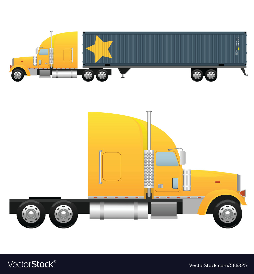 Heavy cargo truck vector | Price: 3 Credit (USD $3)
