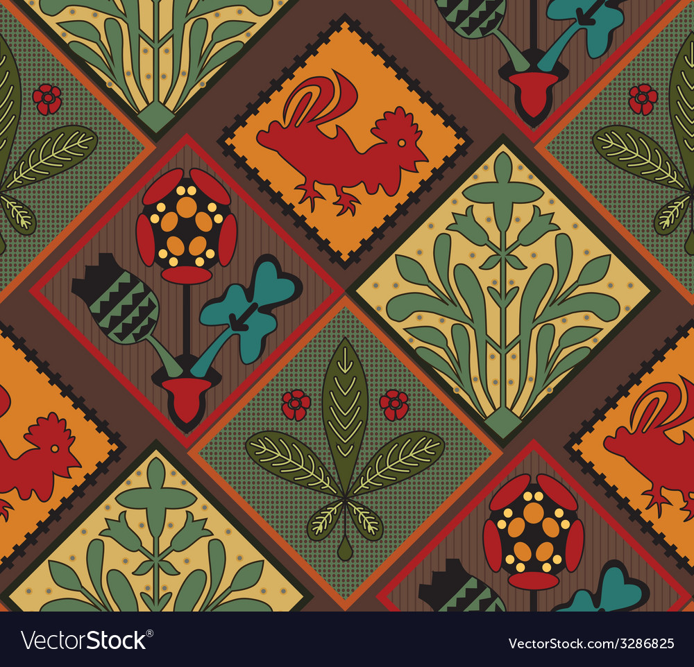 Italian contry tile pattern vector | Price: 1 Credit (USD $1)