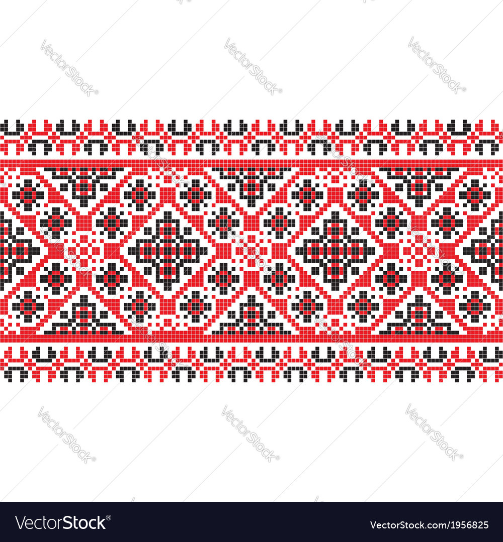 National pattern fabric texture horizontal vector | Price: 1 Credit (USD $1)