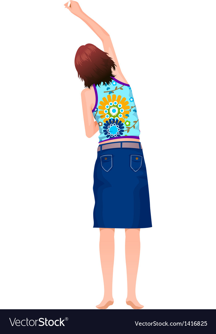 Rear view of woman vector | Price: 1 Credit (USD $1)