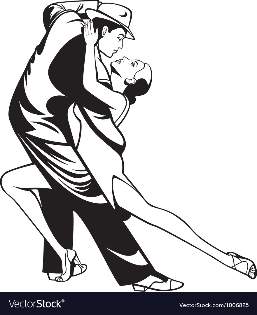 Tango dancers vector | Price: 3 Credit (USD $3)