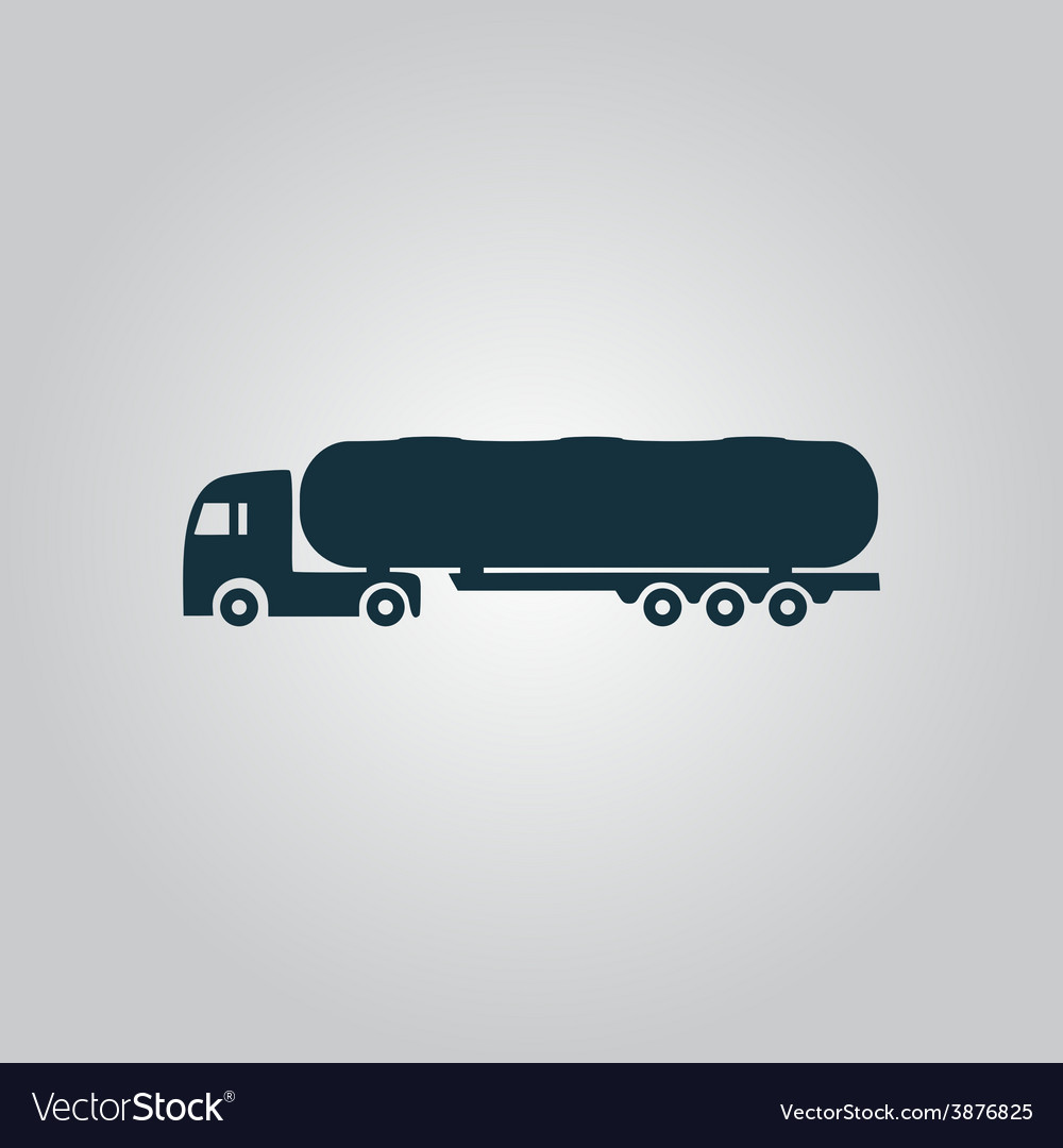 Tank car icon trailer vector | Price: 1 Credit (USD $1)
