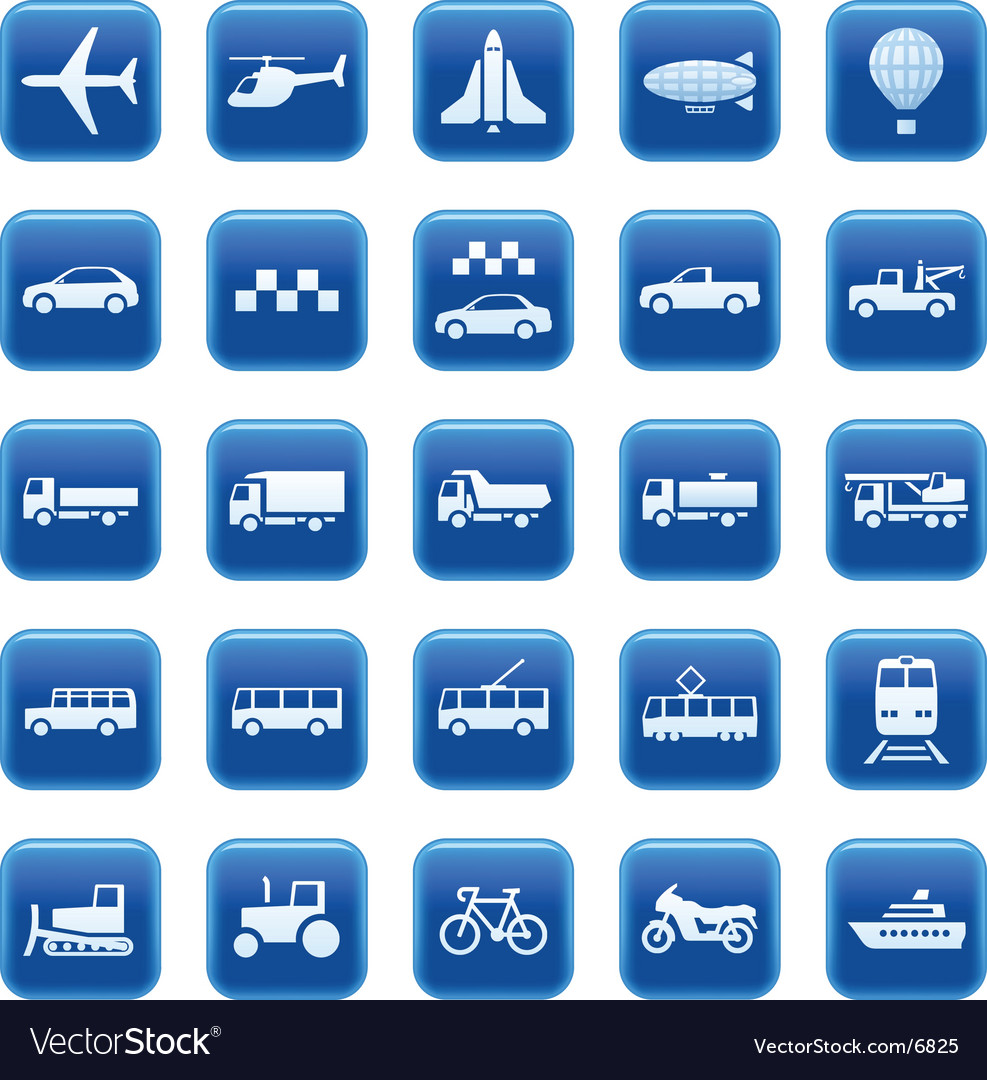 Transport icons buttons vector | Price: 3 Credit (USD $3)