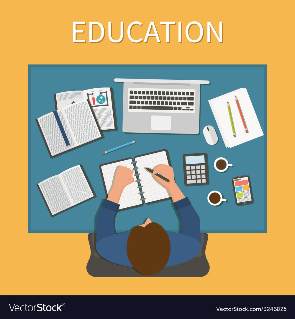 Workplace endless education training and online vector | Price: 1 Credit (USD $1)