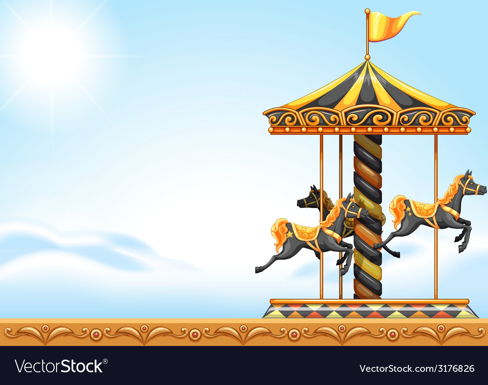 A carousel ride vector | Price: 1 Credit (USD $1)