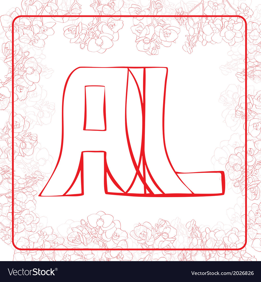 Al monogram vector | Price: 1 Credit (USD $1)
