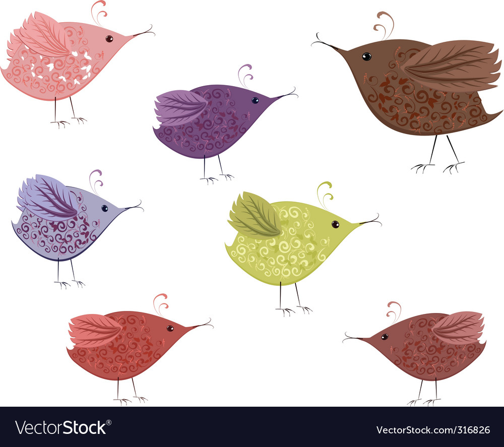 Bird patterned vector | Price: 1 Credit (USD $1)