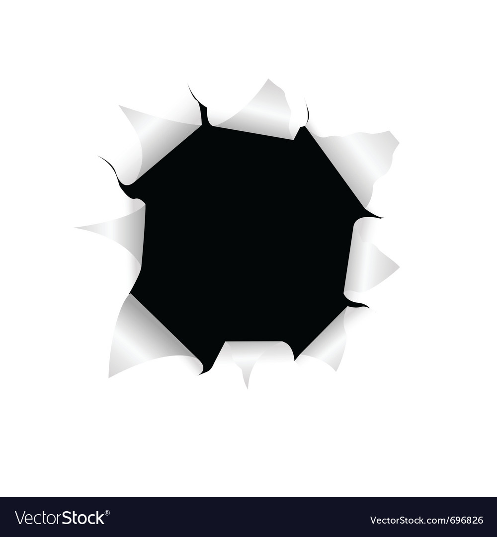 Black torn hole vector | Price: 1 Credit (USD $1)