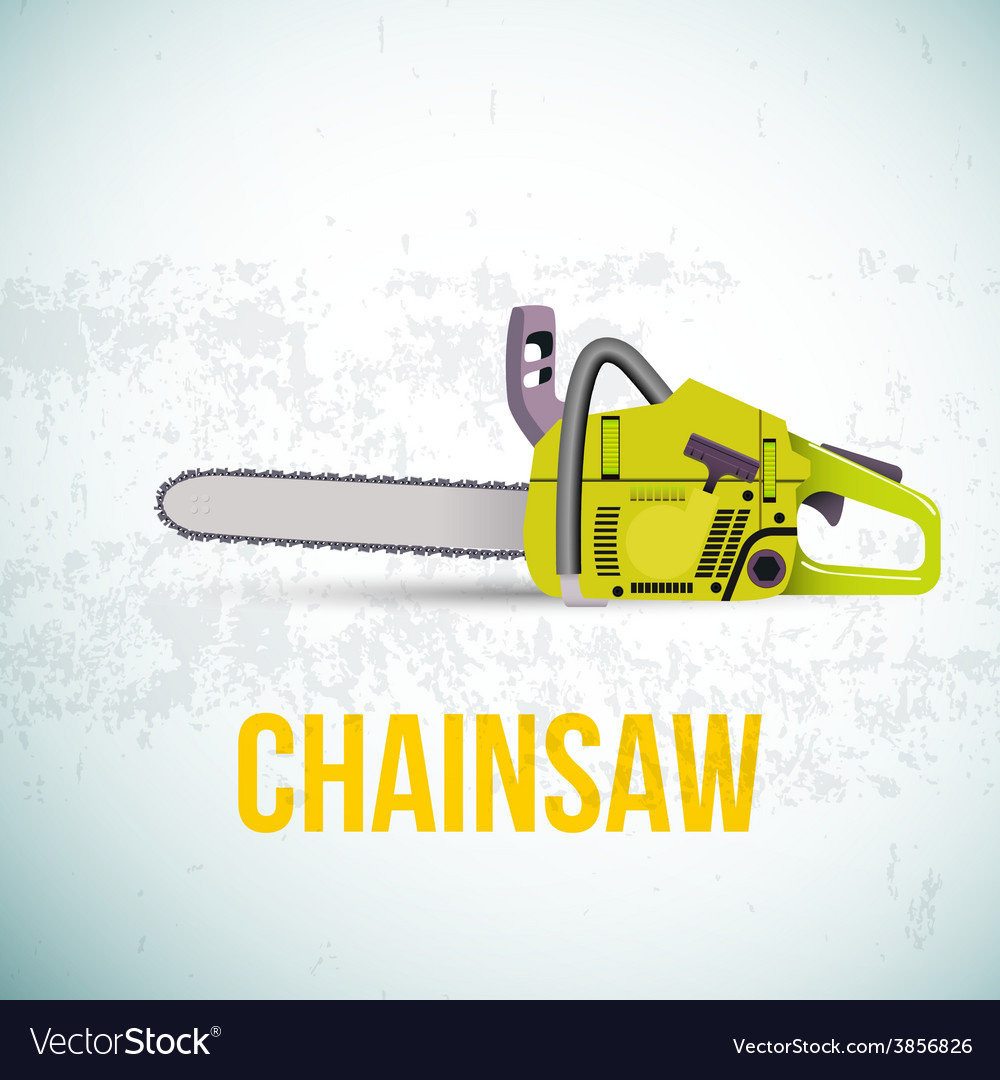 Chainsaw isolated vector | Price: 1 Credit (USD $1)