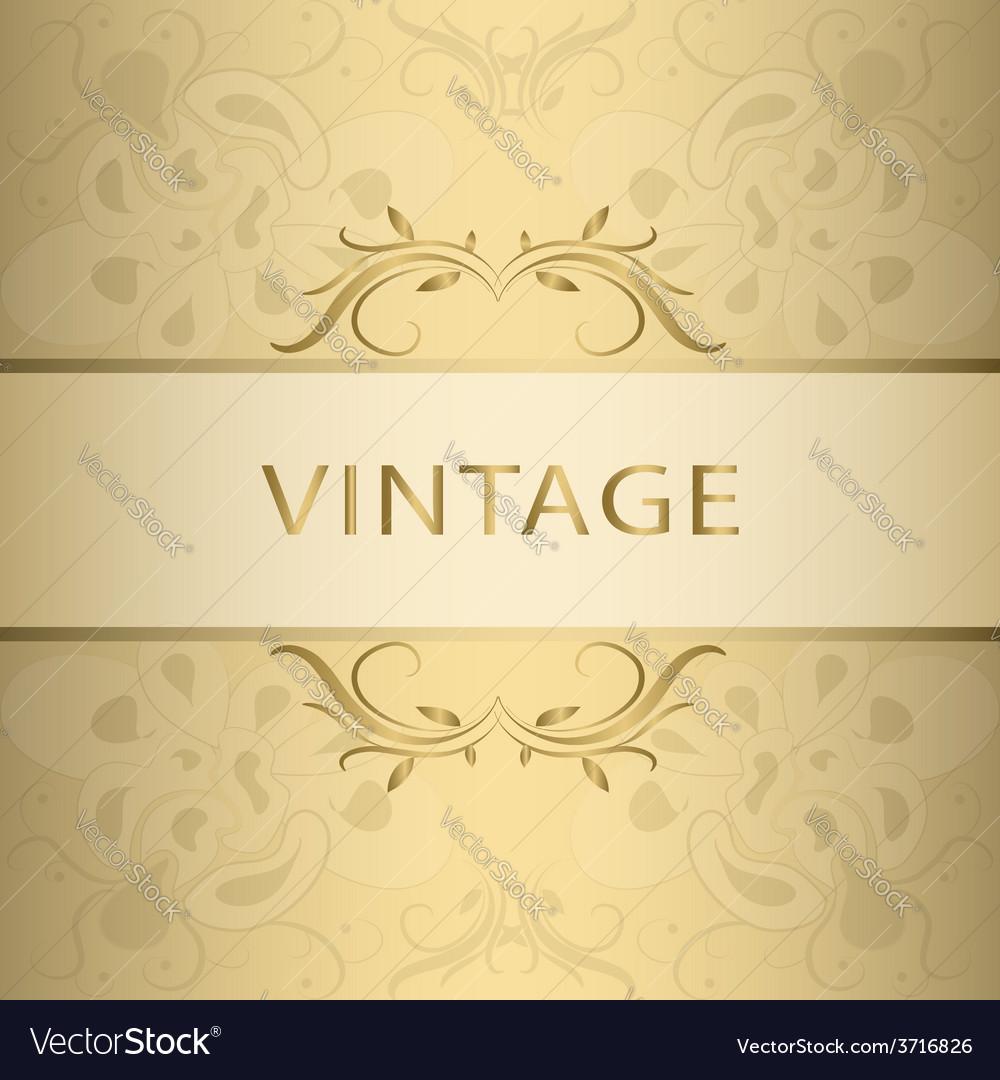 Golden vintage frame vector | Price: 1 Credit (USD $1)