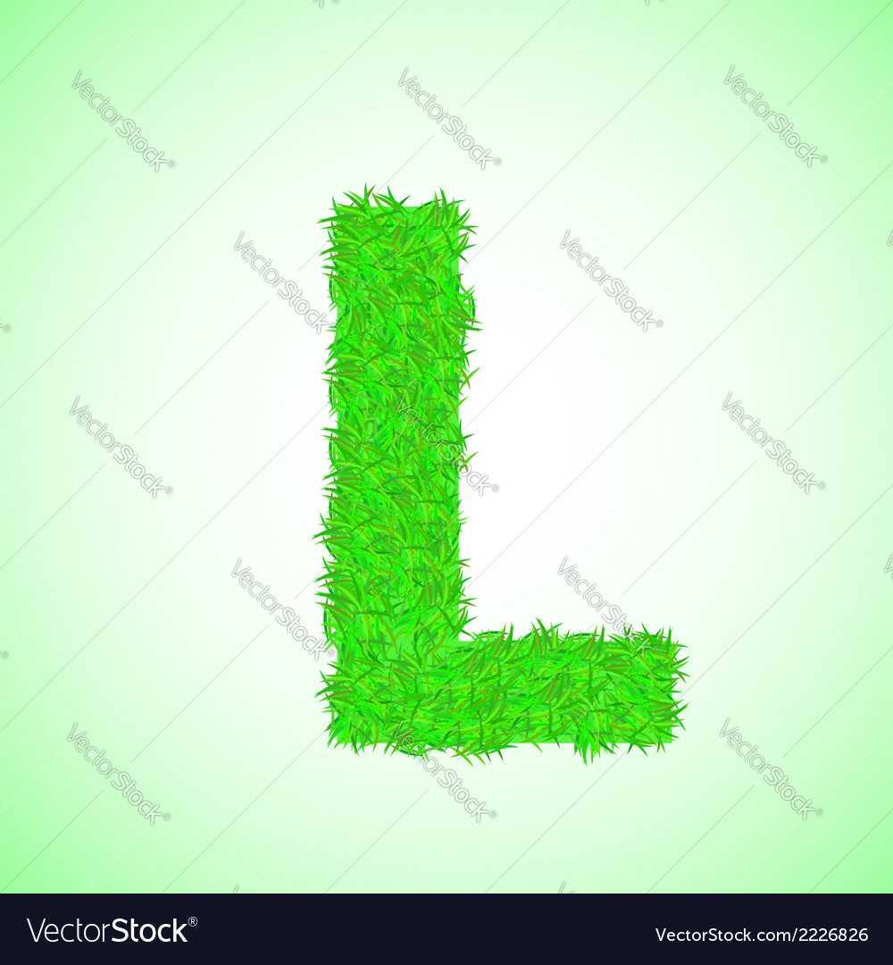 Grass letter l vector | Price: 1 Credit (USD $1)