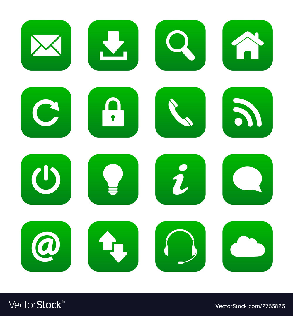 Green web buttons vector | Price: 1 Credit (USD $1)