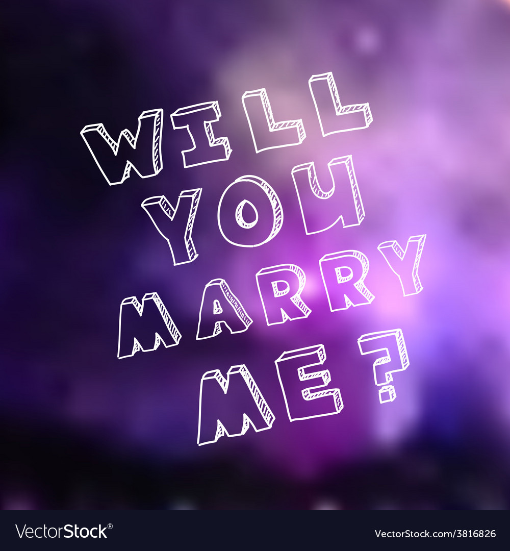 Poster template for marriage proposal design vector | Price: 1 Credit (USD $1)