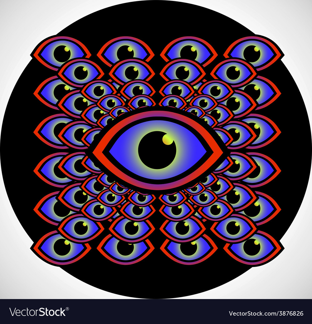 Psychedelic eye vector | Price: 1 Credit (USD $1)