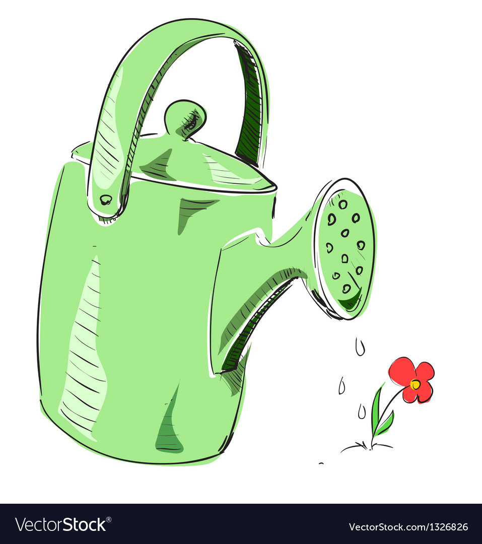 Watering can cartoon icon vector | Price: 1 Credit (USD $1)