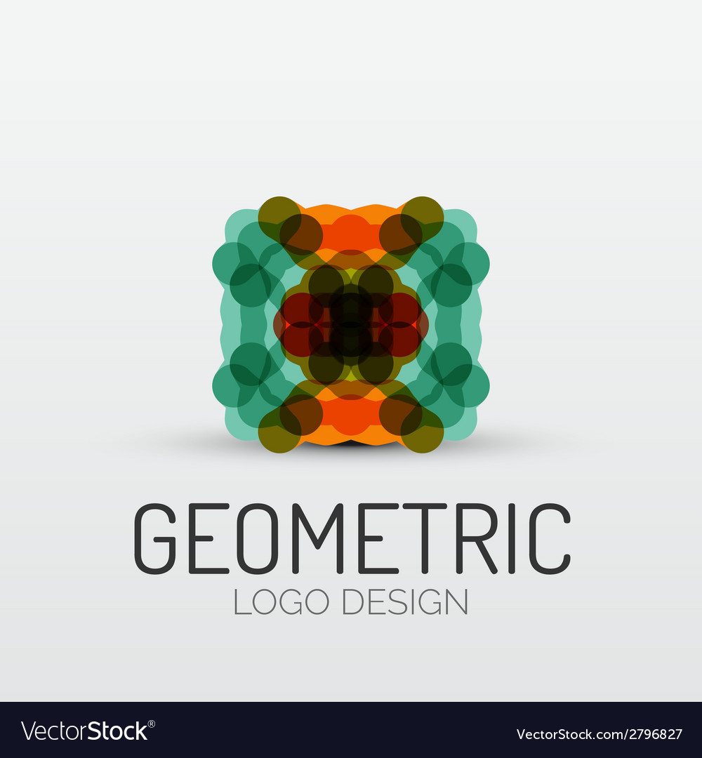 Abstract geometric shape company logo vector | Price: 1 Credit (USD $1)