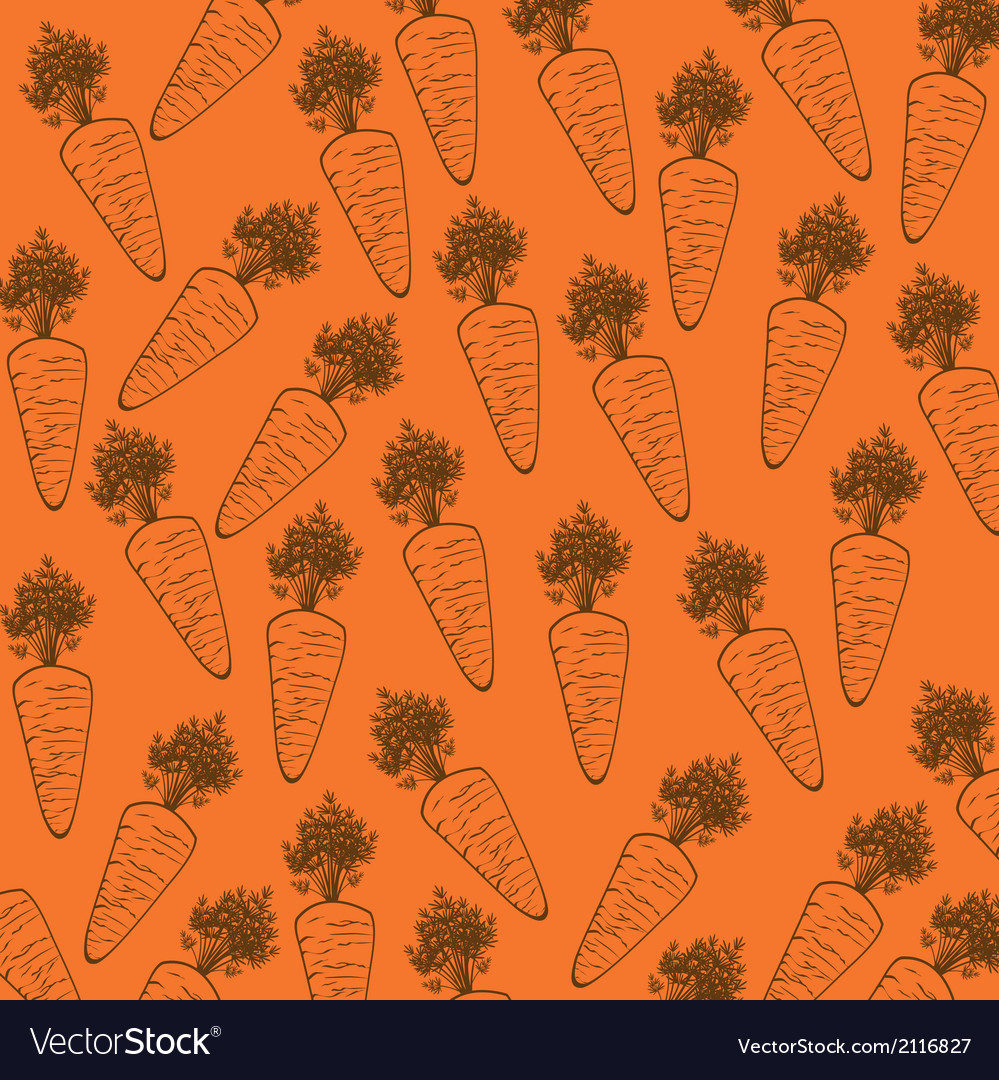 Carrot silhouette over orange background vector | Price: 1 Credit (USD $1)