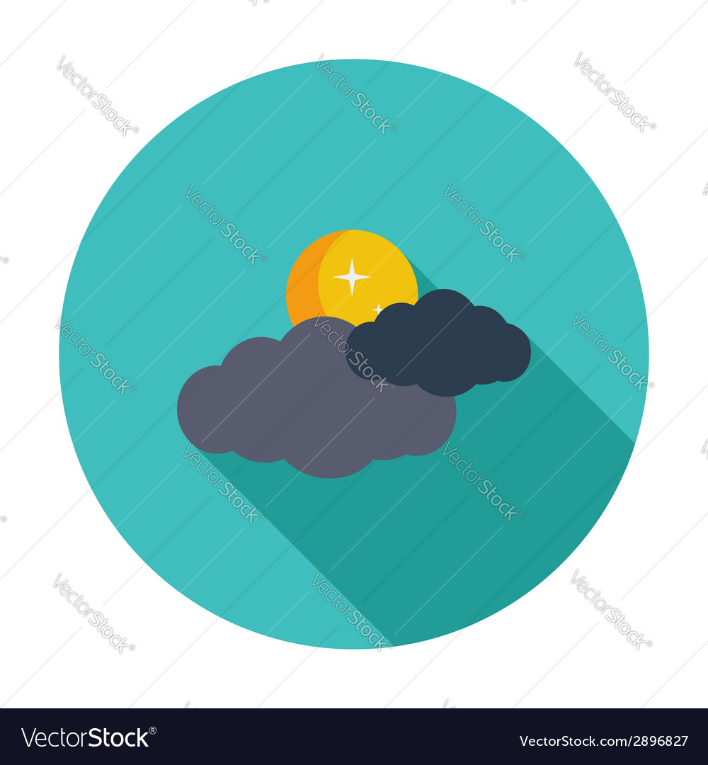 Cloud moon star vector | Price: 1 Credit (USD $1)