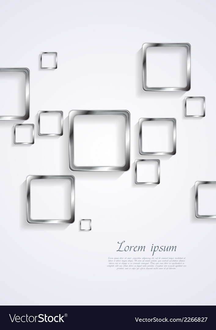 Metallic squares on white background vector   Price: 1 Credit (USD $1)