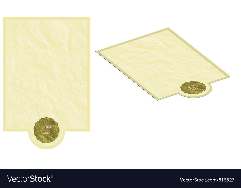 Old paper sheets background banner vector | Price: 1 Credit (USD $1)