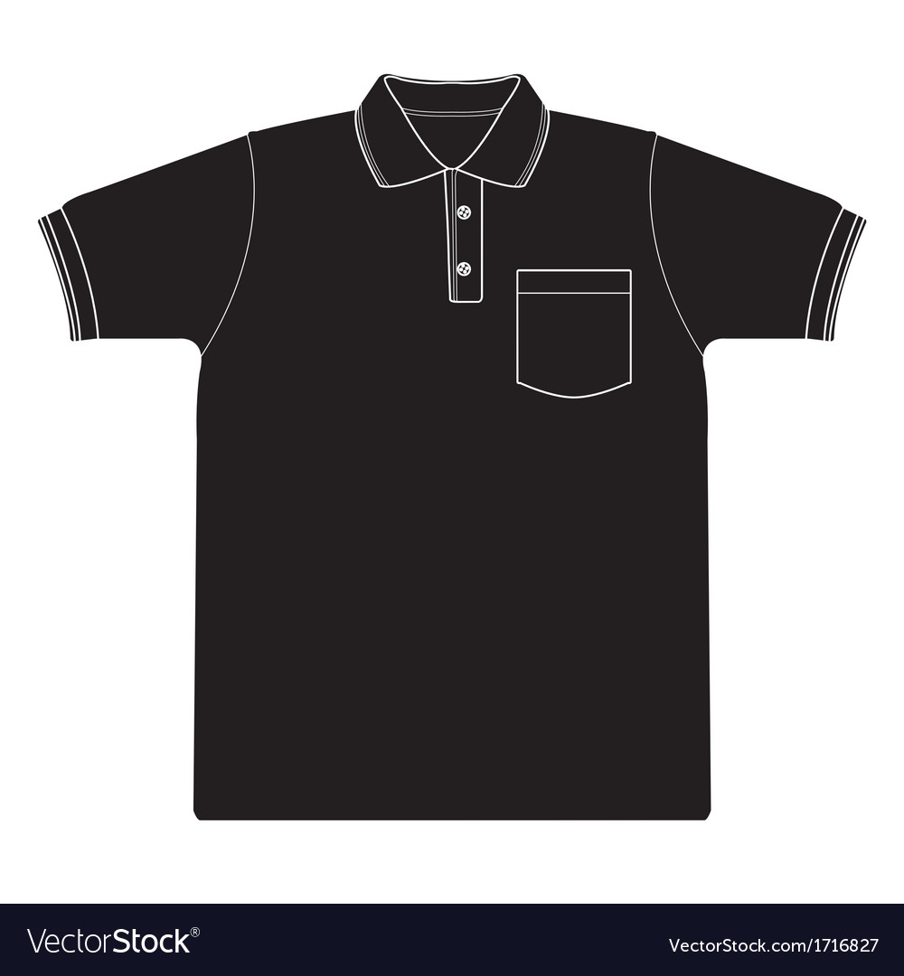 Polo shirt outline silhouetted vector | Price: 1 Credit (USD $1)