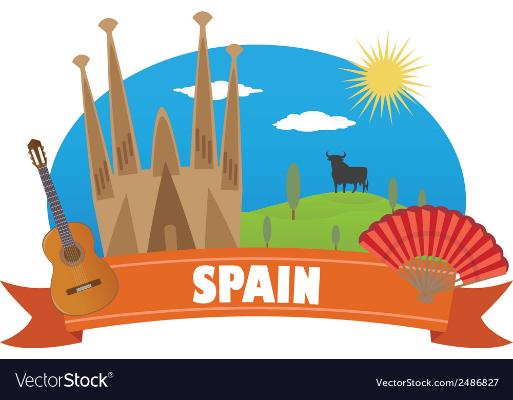 Spain vector | Price: 1 Credit (USD $1)