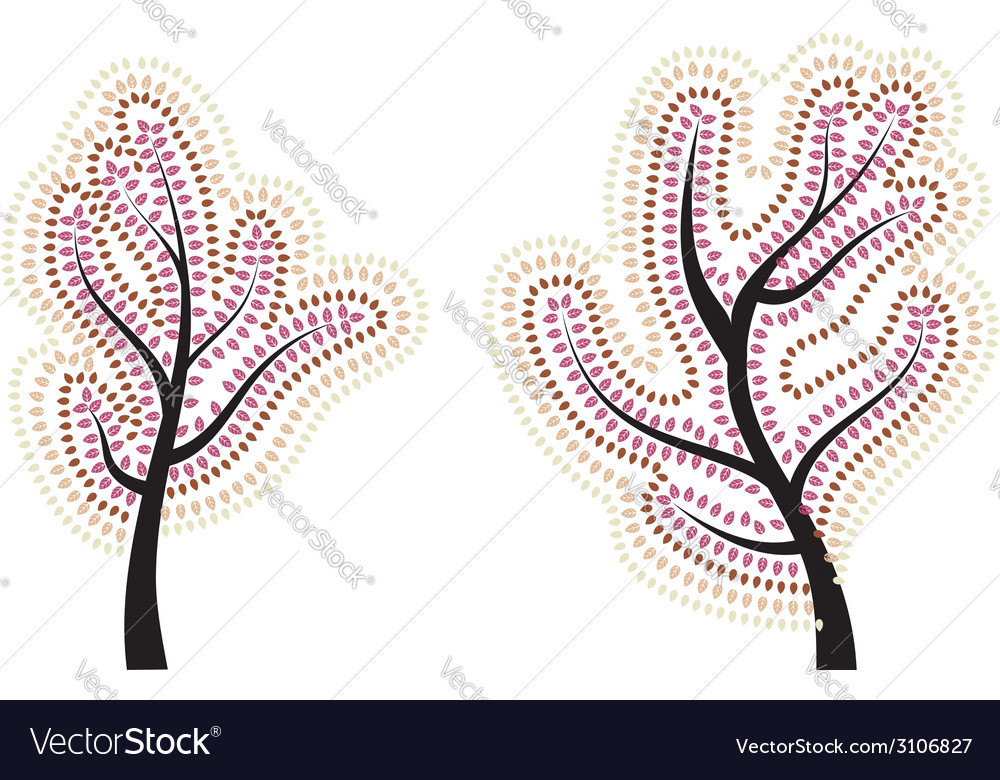 Stylized autumn tree3 vector | Price: 1 Credit (USD $1)
