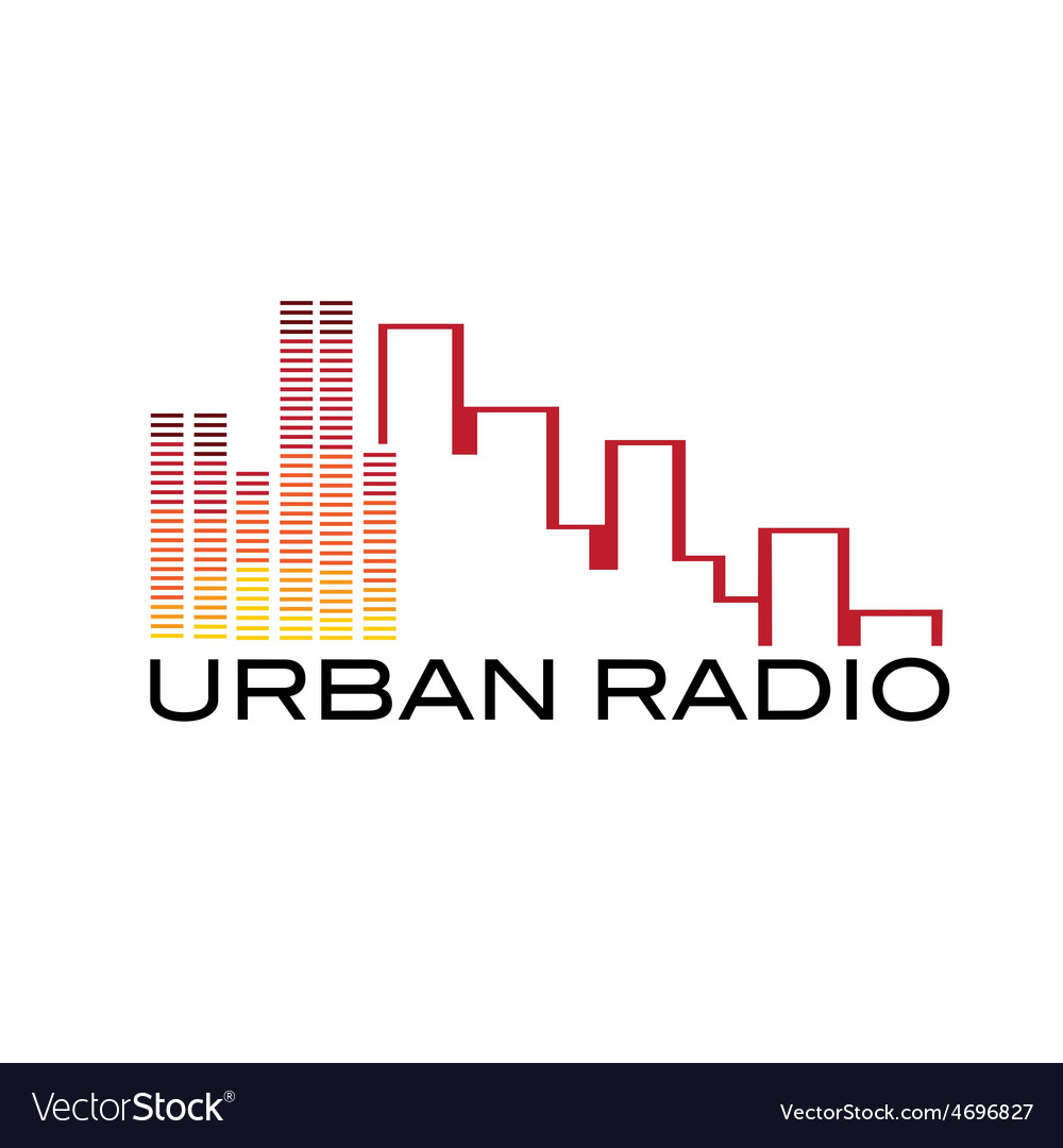 Urban radio concept vector | Price: 1 Credit (USD $1)