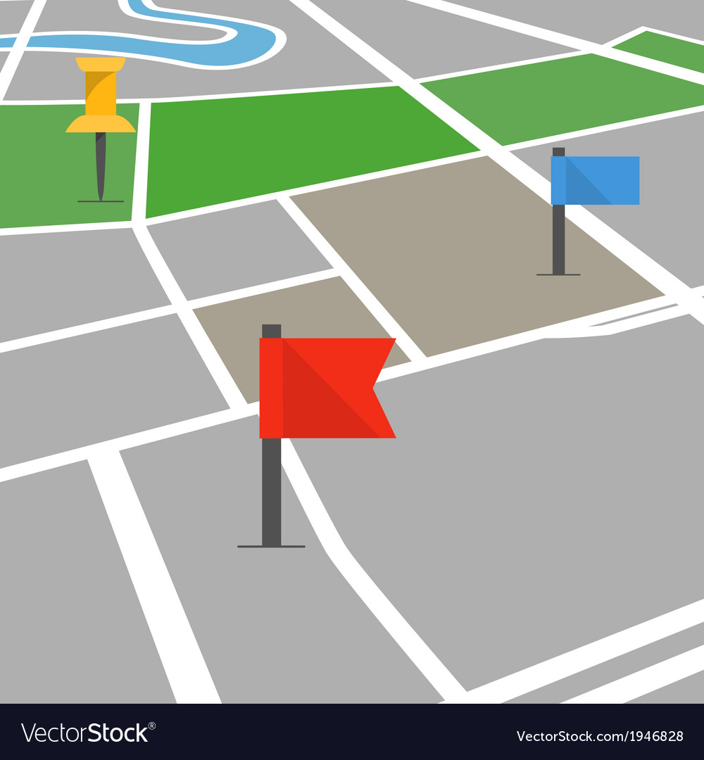 Abstract city map in perspective vector | Price: 1 Credit (USD $1)