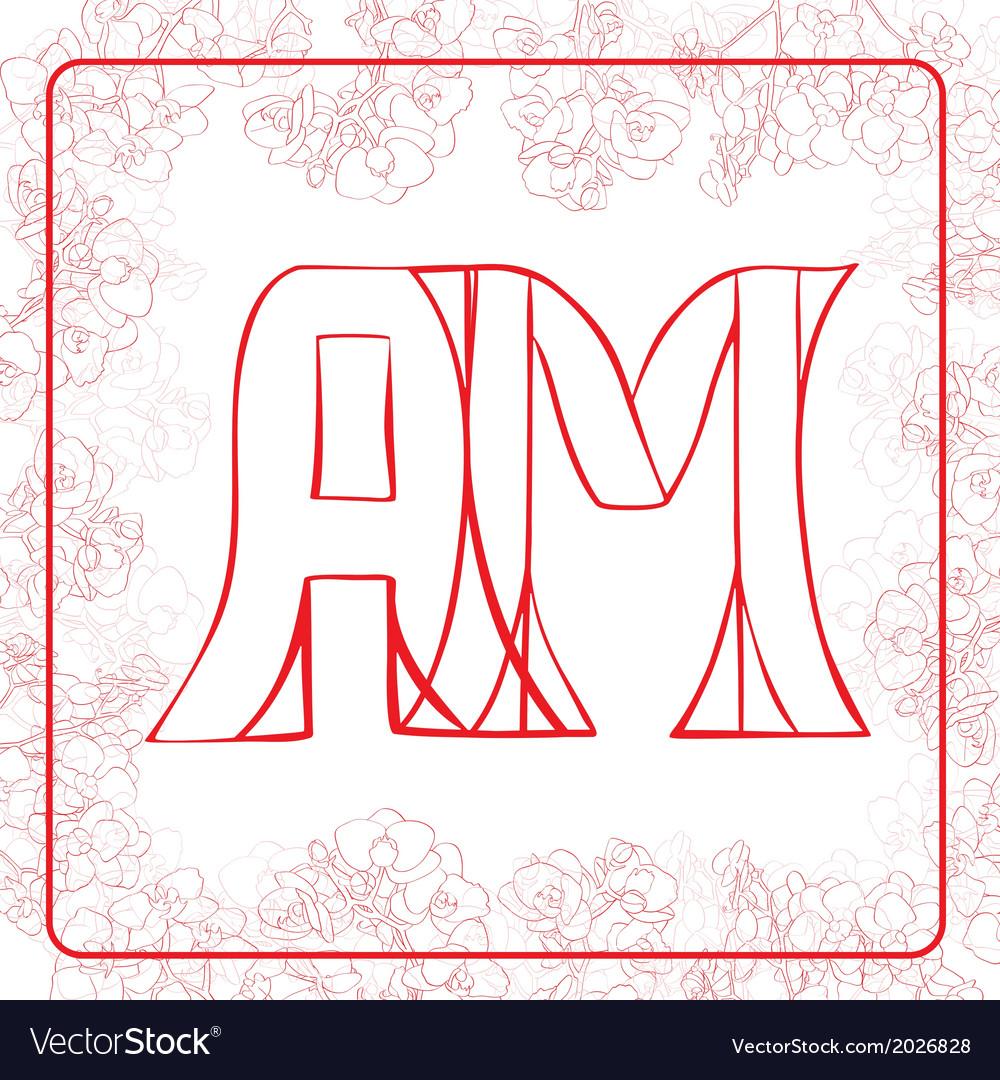 Am monogram vector | Price: 1 Credit (USD $1)