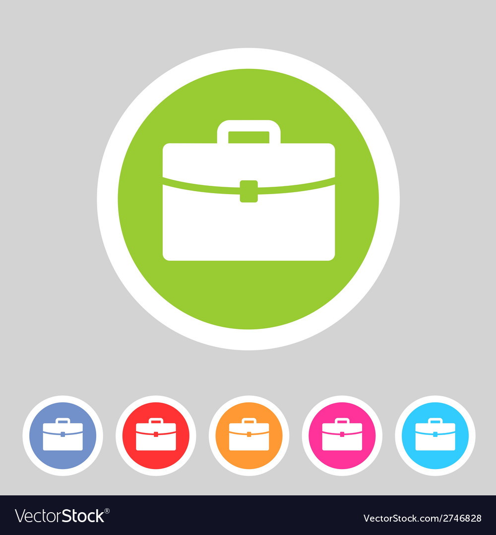 Briefcase portfolio flat icon vector | Price: 1 Credit (USD $1)