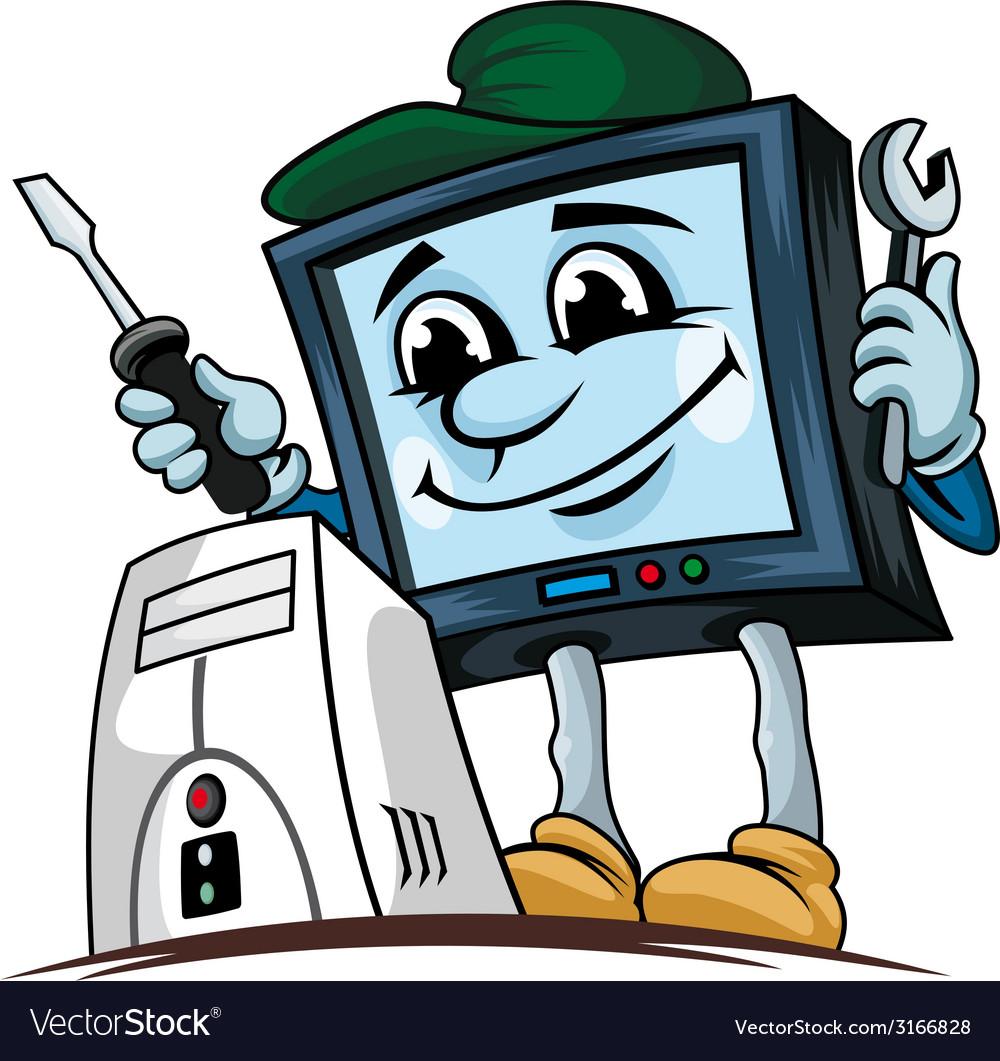 Computer repair service vector | Price: 1 Credit (USD $1)