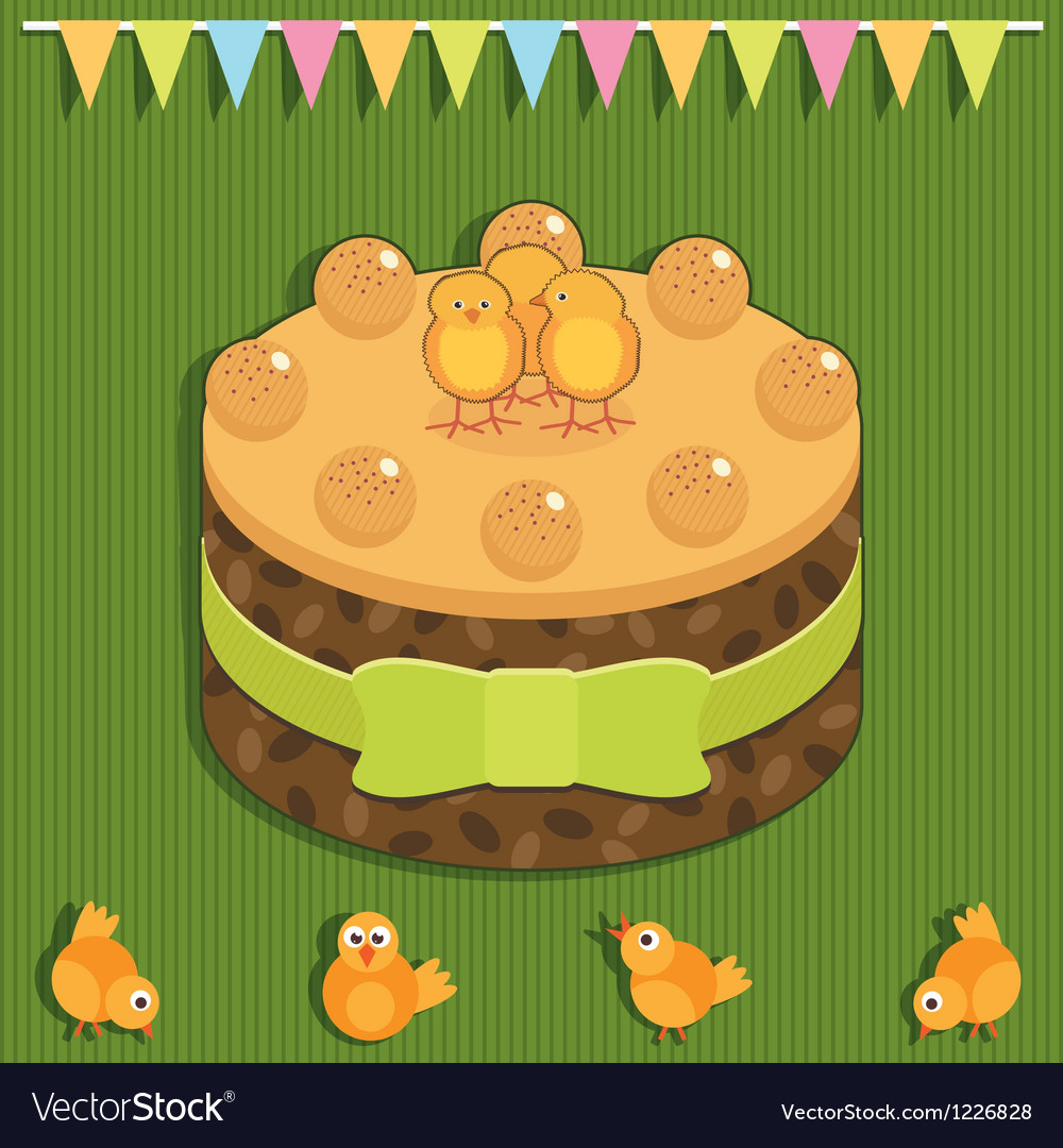 Easter cake vector | Price: 1 Credit (USD $1)