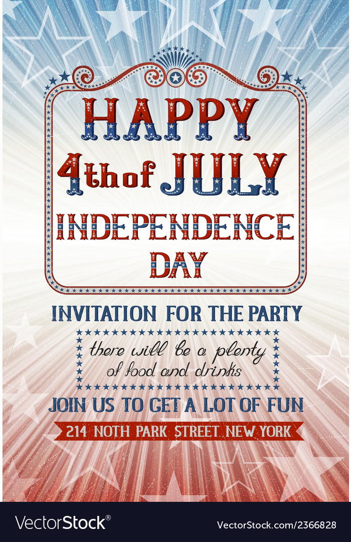 Fourth of july invitation vector | Price: 1 Credit (USD $1)