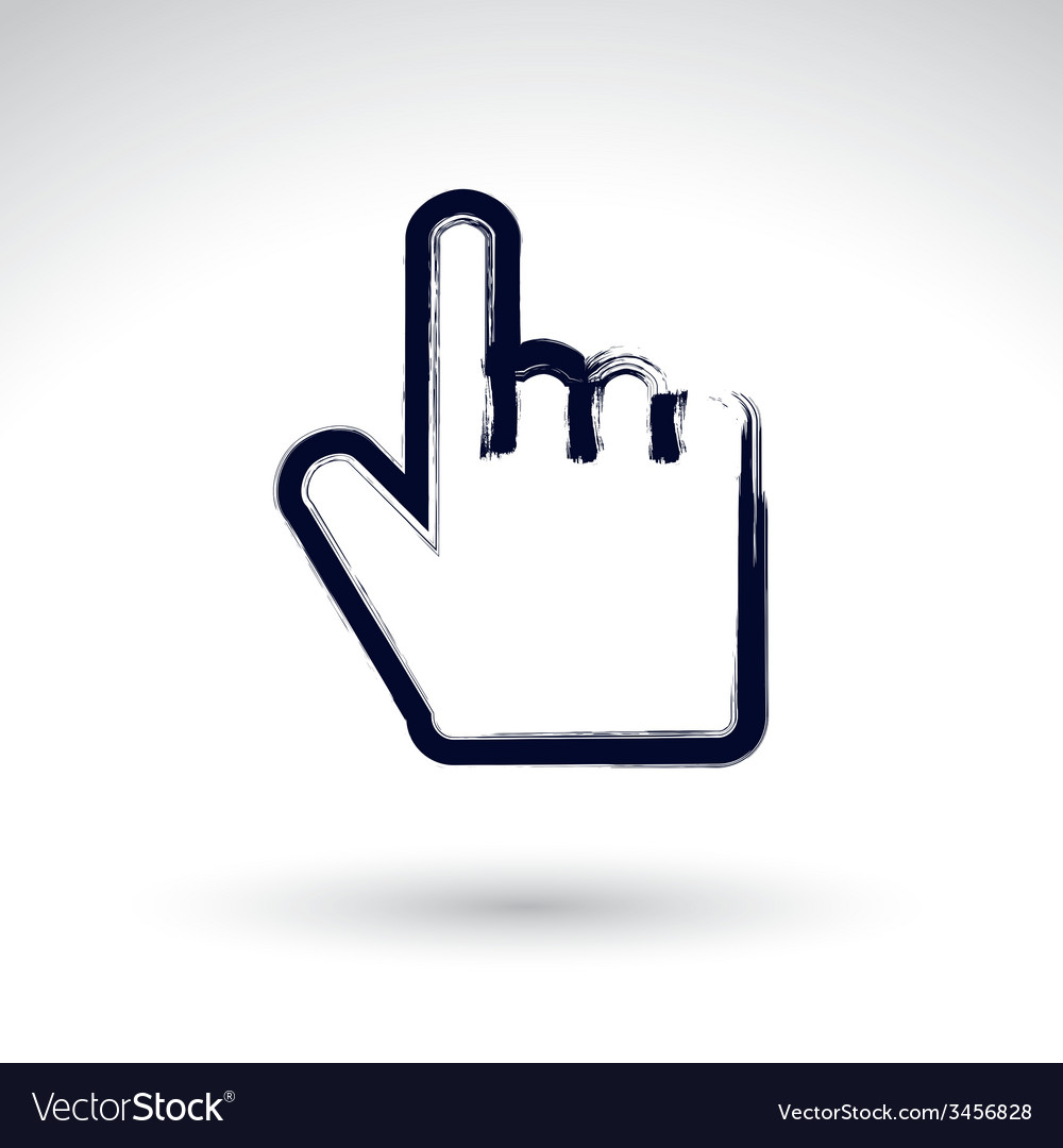 Point hand gesture created with real hand drawn vector | Price: 1 Credit (USD $1)