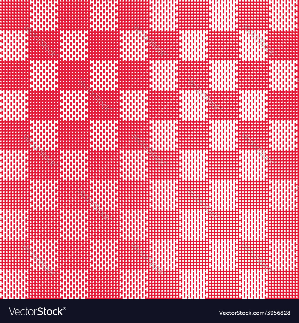 Red white seamless fabric texture pattern vector | Price: 1 Credit (USD $1)