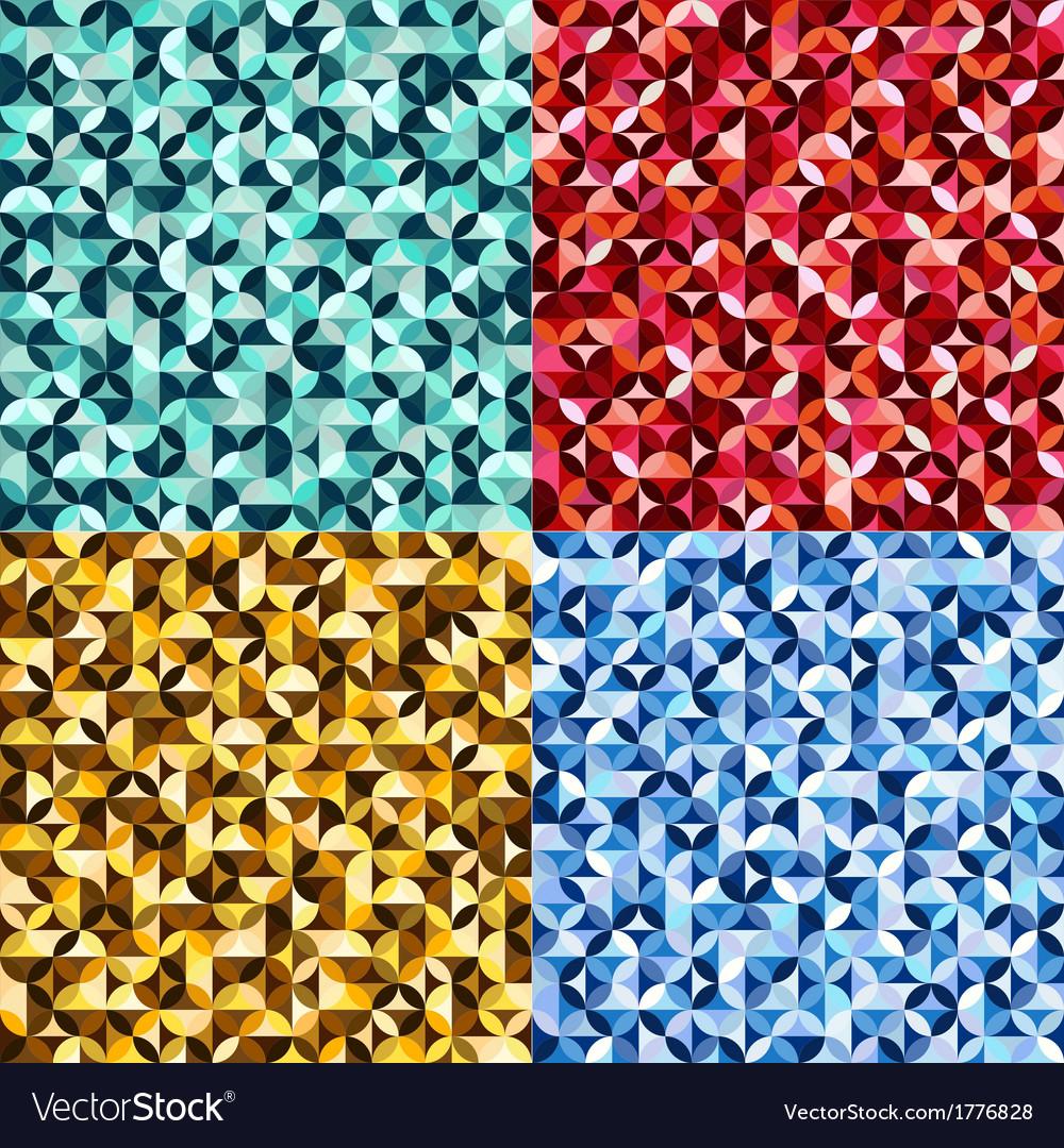 Seamless geometric circles pattern vector | Price: 1 Credit (USD $1)