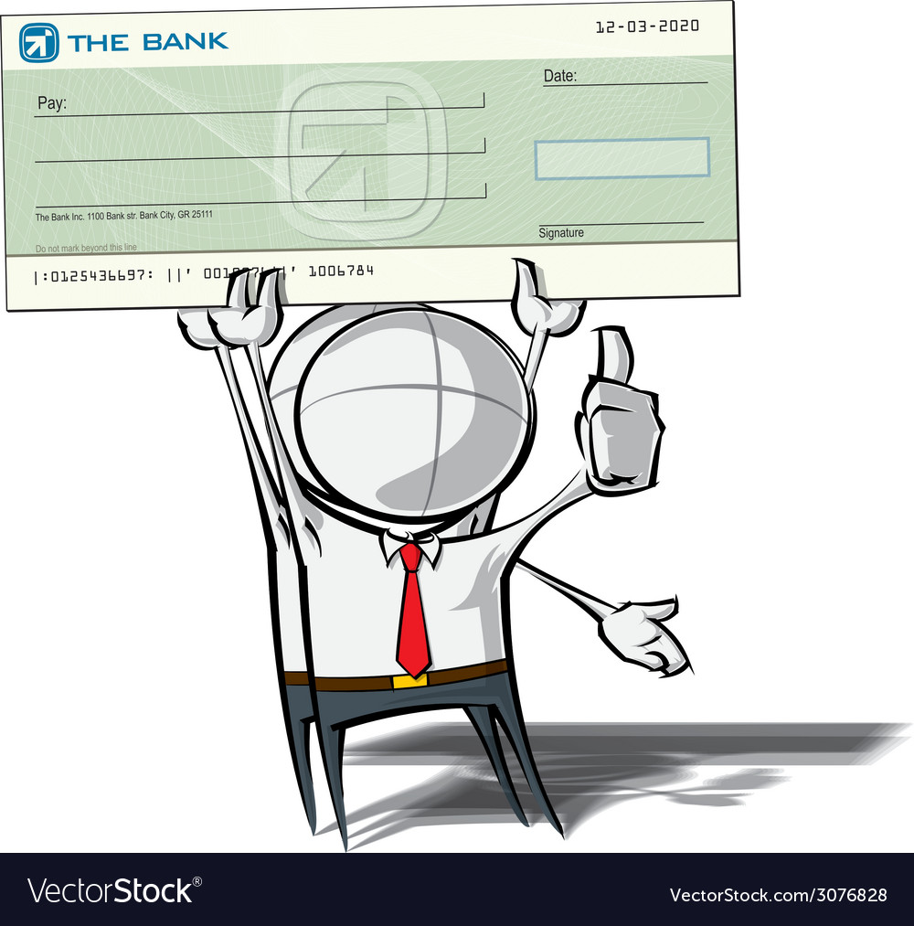Simple business people check vector   Price: 1 Credit (USD $1)