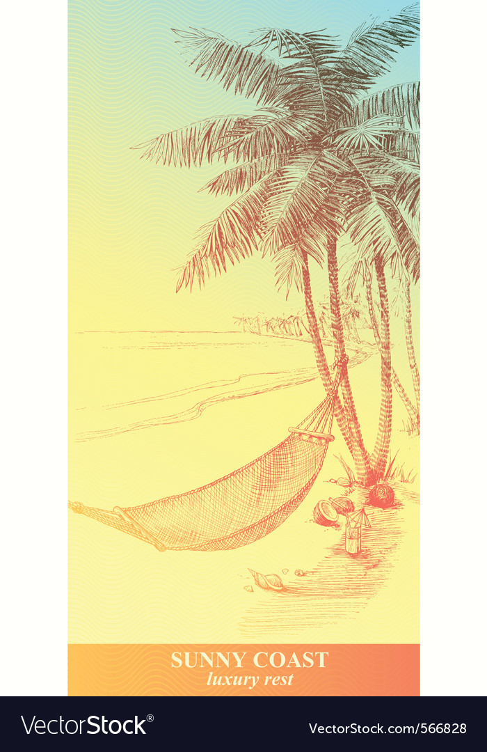 Sunny coast vector | Price: 1 Credit (USD $1)