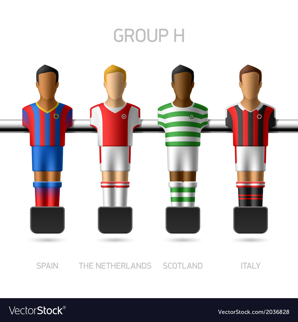 Table football foosball players group h vector | Price: 1 Credit (USD $1)