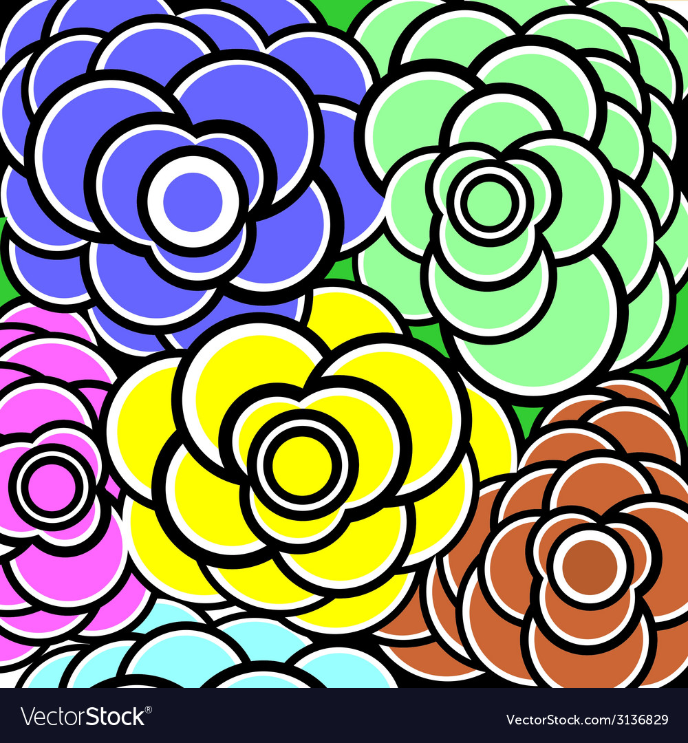 Background flower colorfull vector | Price: 1 Credit (USD $1)