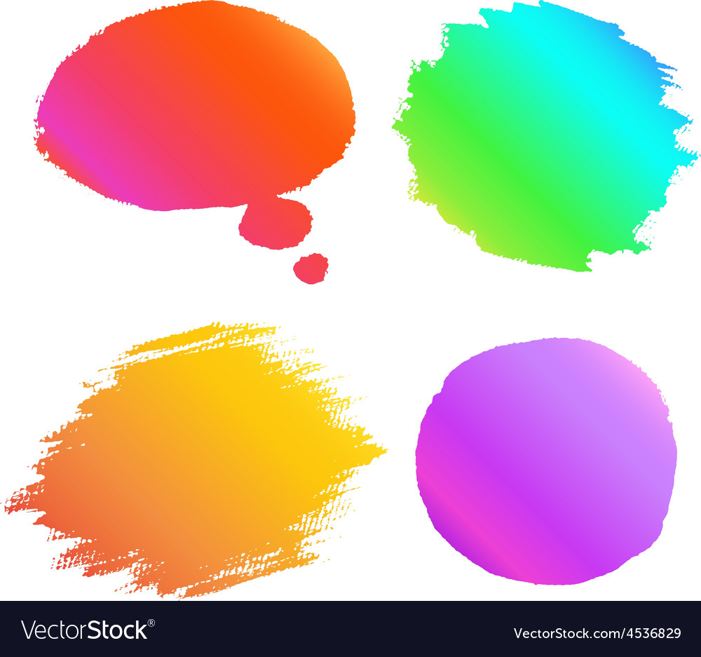 Banner paint gradient set vector | Price: 1 Credit (USD $1)