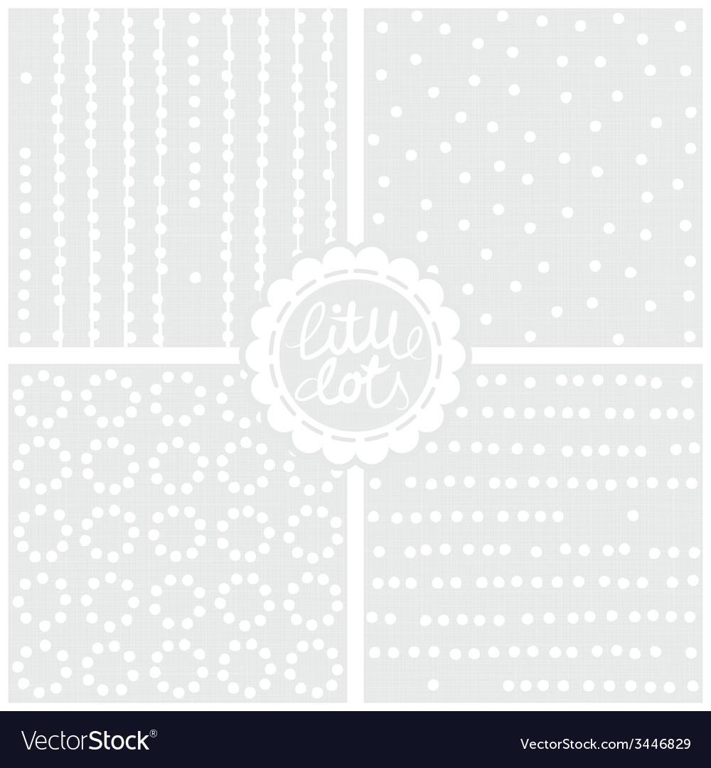 Graymonochromepatternsetlittledots vector | Price: 1 Credit (USD $1)