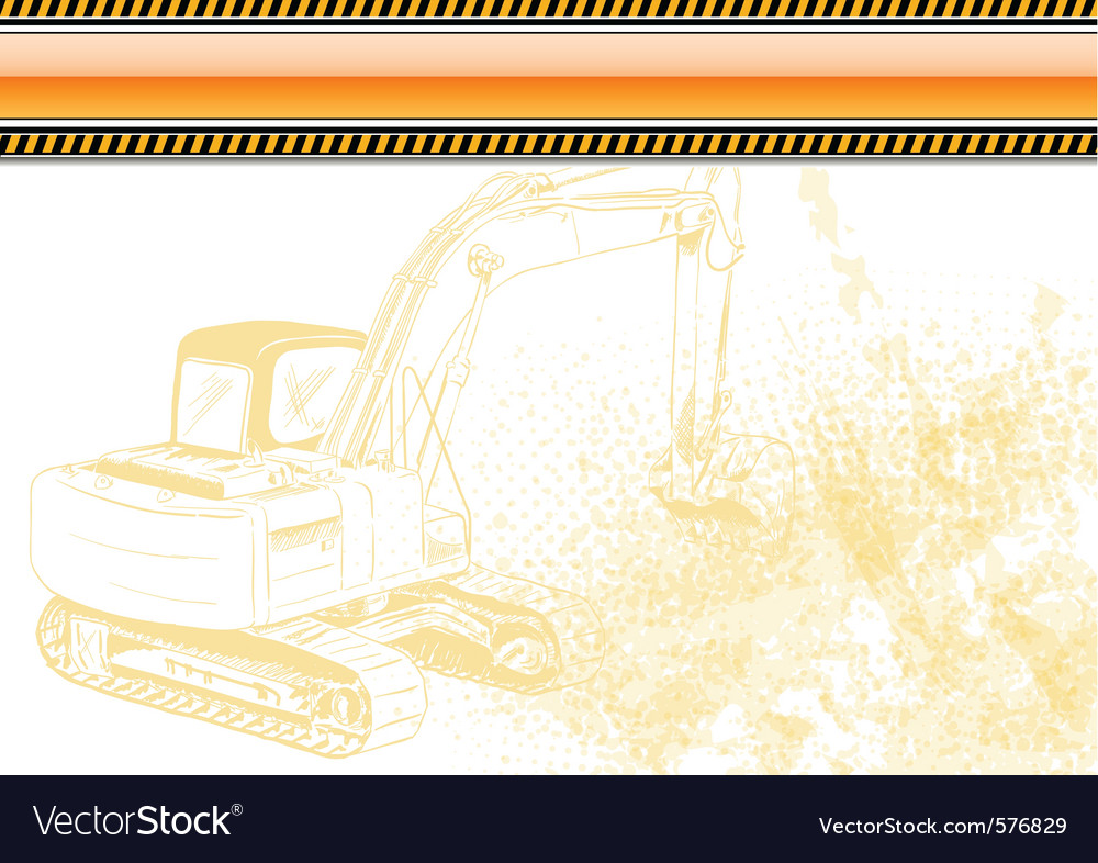 Industrial background with orange banner vector | Price: 1 Credit (USD $1)
