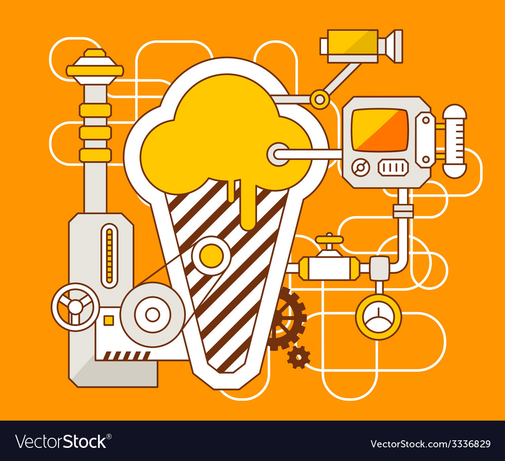 Industrial of the mechanism of ice cream vector | Price: 3 Credit (USD $3)