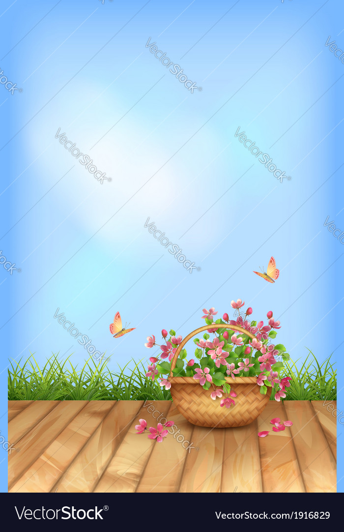 Summer flowers natural background vector | Price: 1 Credit (USD $1)