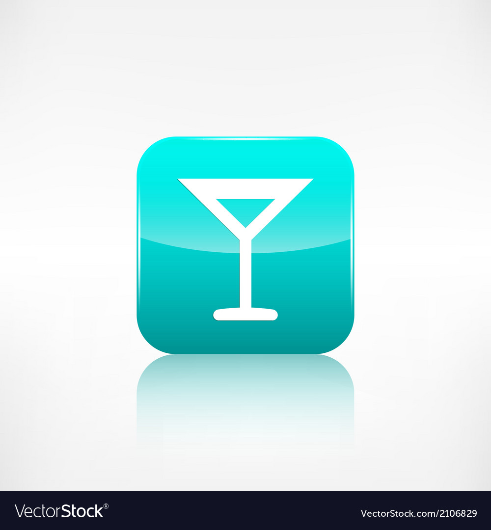 Wine glass web icon application button vector | Price: 1 Credit (USD $1)
