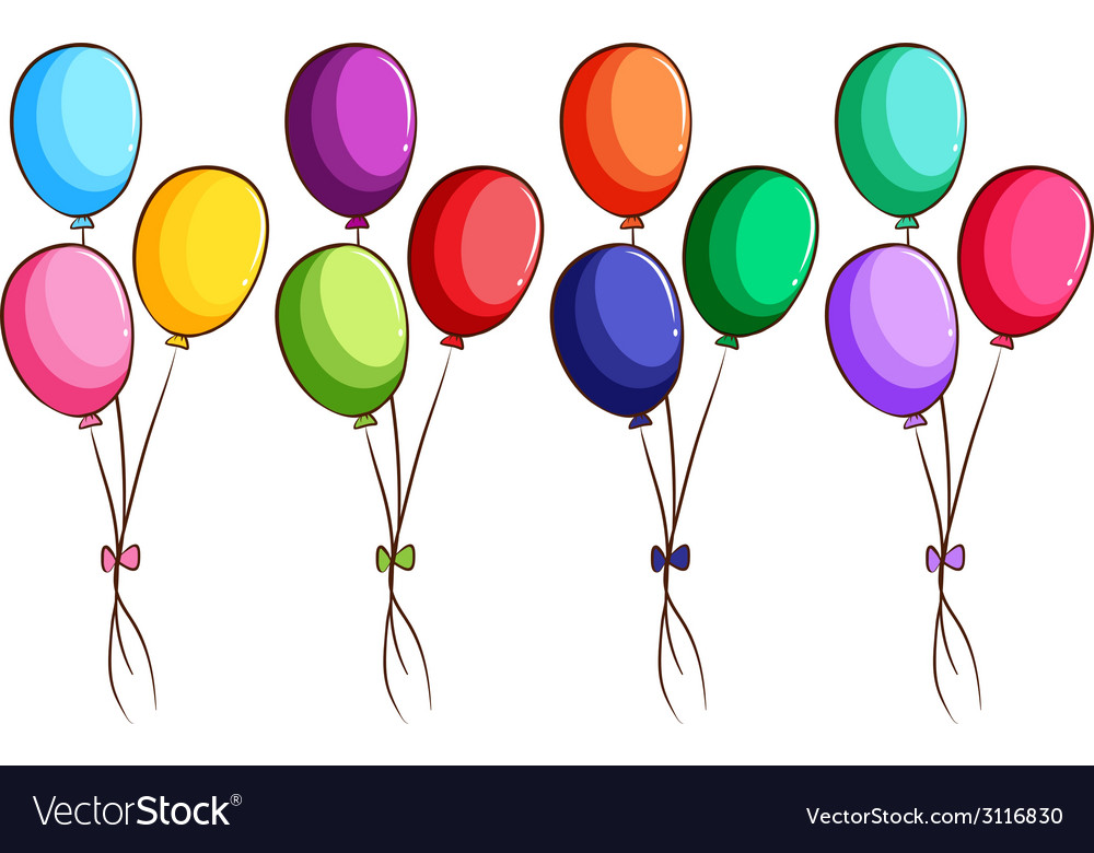 A simple coloured sketch of the balloons vector | Price: 1 Credit (USD $1)