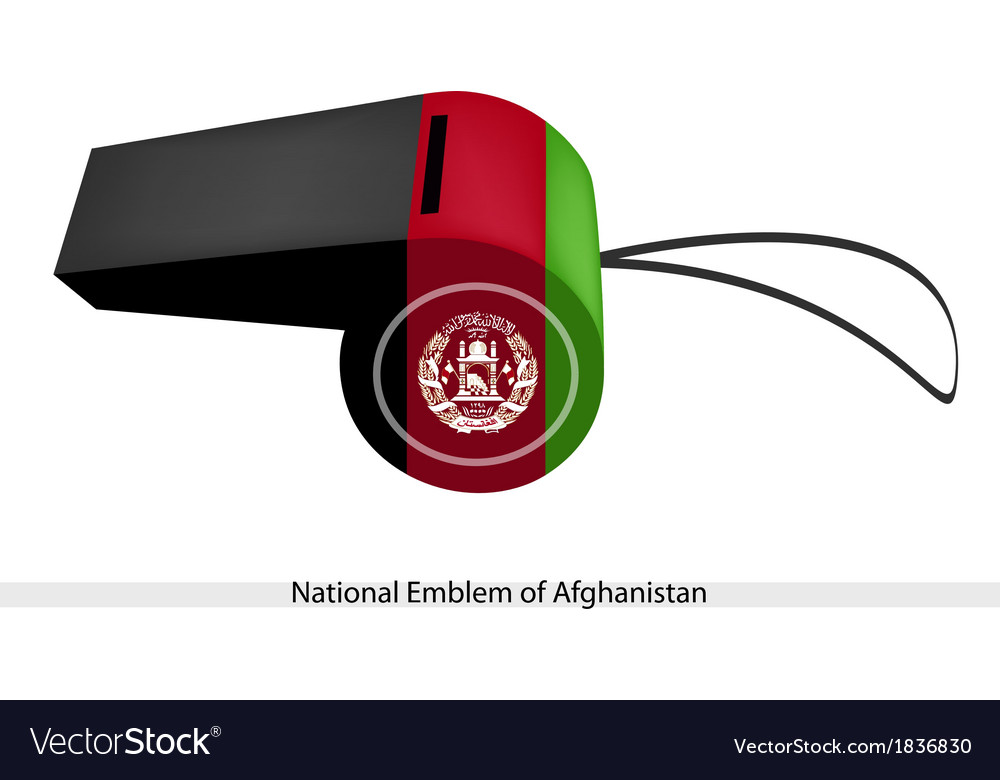 Black red and green stripe on afghanistan whistle vector | Price: 1 Credit (USD $1)