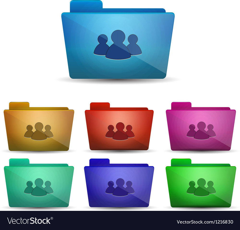 Member folder icon vector | Price: 1 Credit (USD $1)